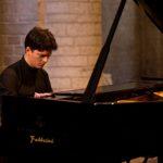 04/07/2015 58 Festival Di Spoleto. Chiesa Sant'Eufemia. Musica, Beethoven e Dintorni, Concerti di Mezzogiorno. Nella foto il pianista Ivan Donchev.